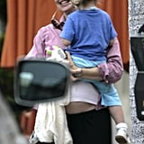 Violet Hitched a Ride on Mama Jen's Baby Bump